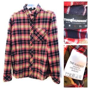 The Hundreds Plaid Flannel Button-Down Shirt